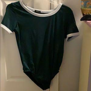 Dark green bodysuit